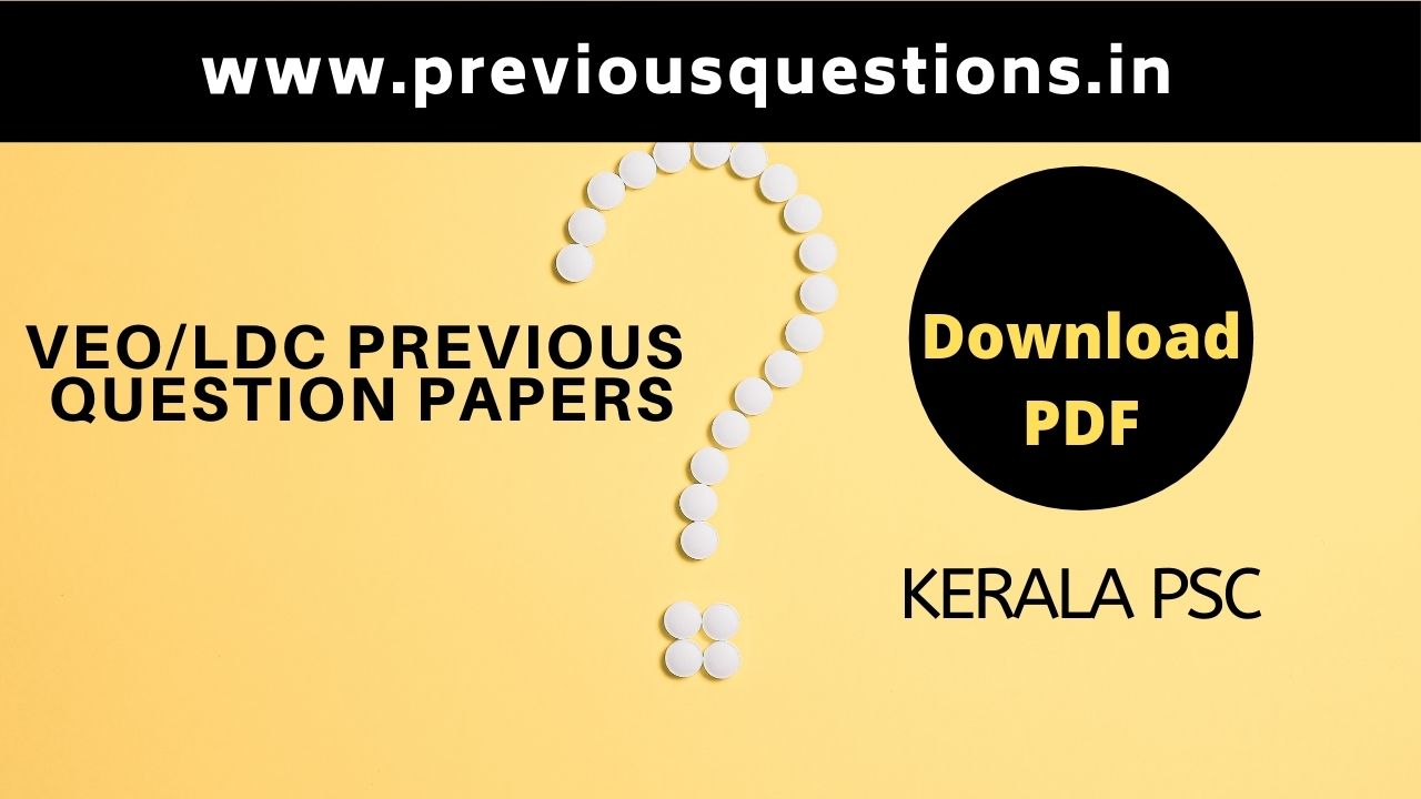 veo-previous Question papers Download